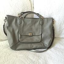Coach Campbell Metallic Silver Satchel Photo