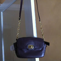 Coach Campbell Plum Leather Camera Shoulder Bag F24843 Nwt Photo