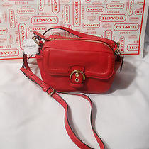 Coach Campbell Red Leather Camera Shoulder/crossbody Great Small Bag Nwt F25150 Photo