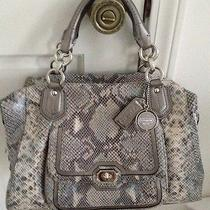 Coach Campbell Satchel - Exotic Leather Gray Python - F26041 Photo