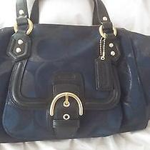 Coach Campbell Satchel Midnight Navy  Photo
