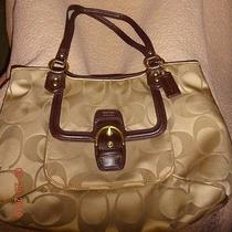 Coach Campbell Signature Belle Brass-Khaki-Mahogany Photo