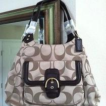 Coach Campbell Signature Hobo in Khaki/mahogany F24742 Photo
