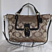 Coach - Campbell Signature Izzy Fashion Satchel- Khaki/mahogany - F25290 Photo