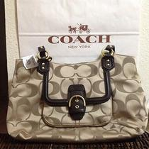 Coach Campbell Signature Khaki Mahogany Nwt Photo