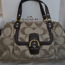Coach Campbell Signature Large Satchel - Khaki/mahogany - F25292 -  Nwt 378.00 Photo