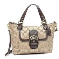 Coach Campbell Signature Mini Tote Crossbody Khaki Mahogany F50084 - Nwt Photo