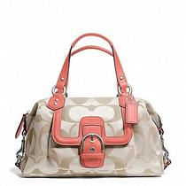 Coach Campbell Signature Satchel F24741  Photo