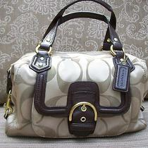Coach Campbell Signature Satchel Handbag 24741mahogany Leathernr  Photo