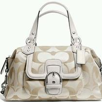 Coach Campbell Signature Satchel Handbag Nwt 328 Photo