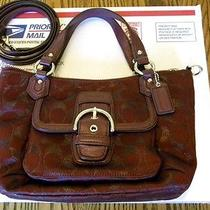 Coach Campbell Signature Tote 50103  Metallic Bordeaux Photo