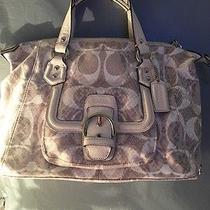 Coach Campbell Snake C Print Shantell Purse Bag Exotic Leather Trim M1394-F27892 Photo