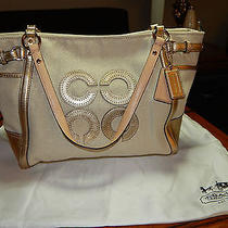 Coach Canvas Natalie Tote in Natural/gold Photo