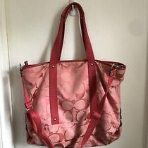 Coach Canvas Tote Large Used Photo