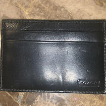 Coach Card Case Smooth Black Leather Photo