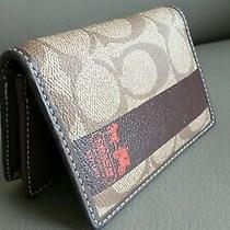 Coach Card Wallet Credit Card Holder With Coach Pattern and Logo Photo