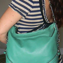 Coach Carly Green Leather Hobo Shoulder Bag  Photo