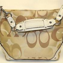 Coach Carly H0826-11960 Optic C Sateen Jacquard and Leather Hobo Shoulder Bag Photo