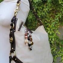 Coach Carly Lrg Hobo Shoulder Handbag Bwn/ivory 10616 Vintage Purse Satchel Bag  Photo