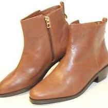 Coach Carmen New 165 Womens 7.5 M 37.5 Caramel Leather Ankle Boots Booties Ky Photo