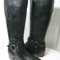 Coach Carolina Black Leather Classic Equestrian Riding Boots Women's Size 38/8 B Photo
