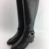 Coach Carolina Knee High Boots Black Size 8m Rh5931 Photo