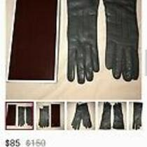 Coach Cashmere Lined Leather Gloves Photo