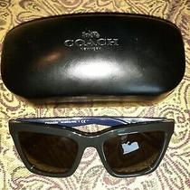 Coach  Cat Eye  Black/blue  Electic Floral  Sunglasses  L1635/hc8208  Photo