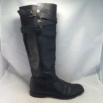 Coach Cayden Smooth Nappa Black Leather Boot - Q1350 - Women's 8b - Great Photo