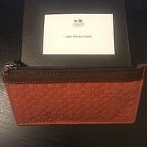 Coach Ccv Signature Envelope Key Case F65658 Brown Leather Orange Signature Nwt Photo