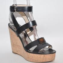Coach Charla Black Sandal Wedge Heel Shoe Size 8.5 Photo