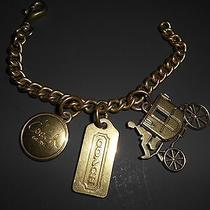 Coach Charm Bracelet Handbag Charm Purse Charm Brass Gift Boxed Photo