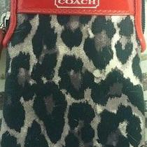 Coach Cheetah Print Cell Phone & Card Holder Photo