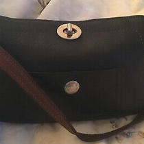 Coach Chelsea Black Leather Turn Lock Shoulder Hobo Handbag Purse Photo