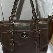 Coach Chelsea Brown Leather Shoulder Tote Laptop Bag Large  F14015  Photo