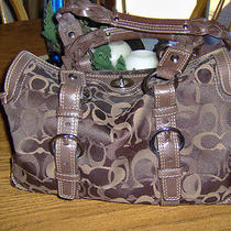 Coach Chelsea Brown Optic Signature Satchel 10995 Photo