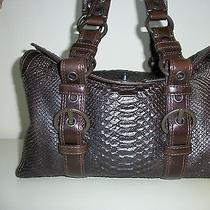 Coach - Chelsea Embossed Printed Python Leather Handbag Photo