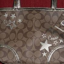 Coach Chelsea Heritage Star Print Top Handle Canvas Tote W/ Key Fob F47200 Photo