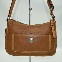 Coach Chelsea Luggage Tan Pebble Grain Leather Mini Hobo Baguette 8e96 Photo