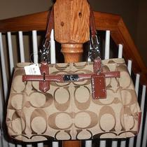 Coach Chelsea Signature Jayden Carryall Handbag Khaki / Walnut 17806m 298 Photo