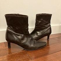 Coach Chocolate Brown Ankle Boots Size 7.5 Photo