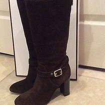 Coach Chocolate Brown Suede Boots Photo