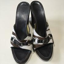 Coach Chrissie Zebra Horse Hair Wedge Slide Sandal Size 10b Photo