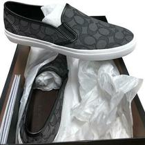 Coach Chrissy Outline Sig C/nap Smoke/black Slip on Shoes Size 8.5 New in Box Photo