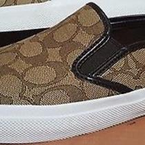 Coach Chrissy Slip-on Logo Sneakers Fashion Women's /canva/khaki/sizeus 10b Photo
