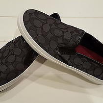 Coach Chrissy Women's Signature Logo Slip on Sneakers Size 10 Photo
