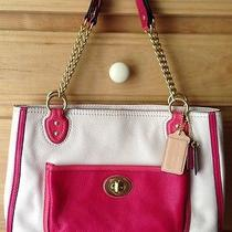 Coach Christie Carryall Pink and Cream Leather. Rarely Used Photo