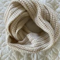 Coach Chunky Knit Infinity Scarf Wool Acrylic Blend - Cream Color New With Tags Photo