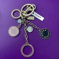 Coach Circle Cluster Enamel Bag Charm Key Chain Ring Fob New Gold Tone 1596 Photo