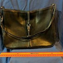 Coach Classic Black Leather Shoulder Bag Handbag Purse No K1k-7781 Photo